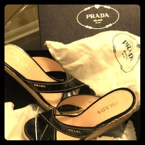 Authentic PRADA wedge